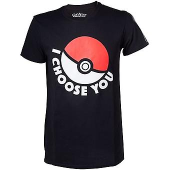 Pokemon I Choose You Mens T-Shirt Small Black Model. TS120312POK-S