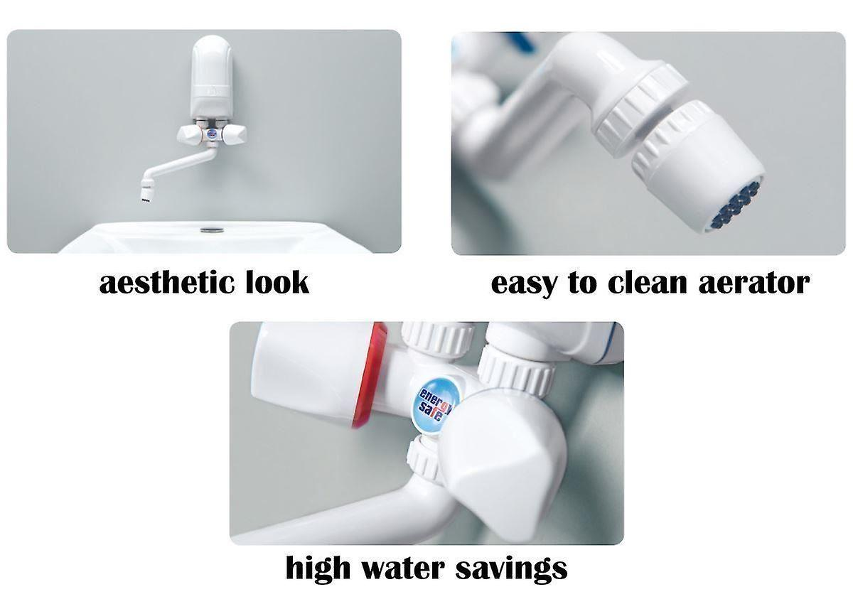 Instant Electric Hot Water Heater Boiler Hand Wash 3,7-5,5kW White Plastic Spout