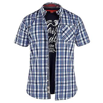 D555 Men's Clifton Regular Short Sleeve Shirt & T Shirt Pack