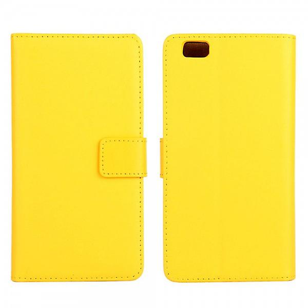 Pocket wallet Deluxe yellow for Huawei Ascend P8 Lite