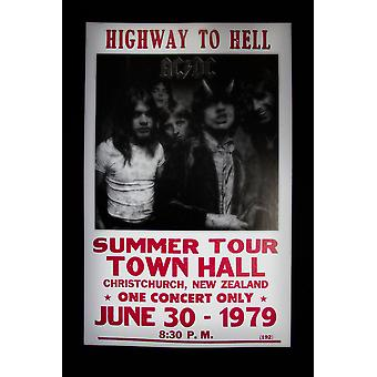 Highway to Hell retro concert poster