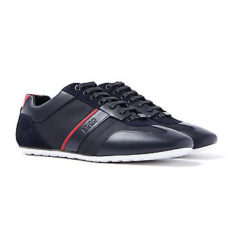 HUGO Life Lowp Navy Mesh & Leather Trainers