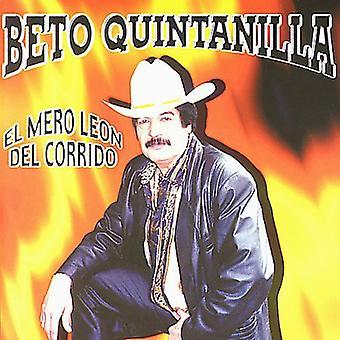 Beto Quintanilla - El Mero Leon Del Corrido [CD] USA import