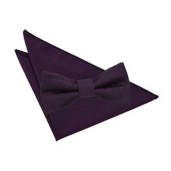 Cadbury paars Griekse belangrijke strikje & zak plein Set