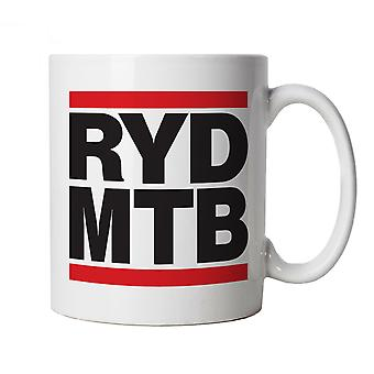 Vectorbomb, Ride Mountain, Novelty Mountain Bike Mug