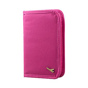 TRIXES Travel Wallet Pink Document & Passport Organiser with Zipped closure for tickets etc