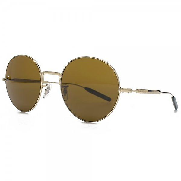 Paul Smith Clarefield Round Sunglasses In Soft Gold Light Brown