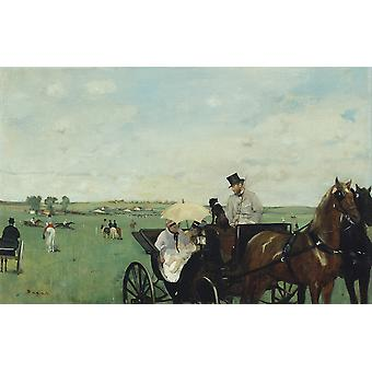 Edgar Degas - At the Races in the Countryside Poster Print Giclee