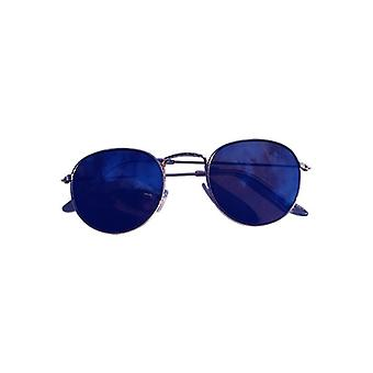 Cool urban sunglasses with blue mirror glass silver
