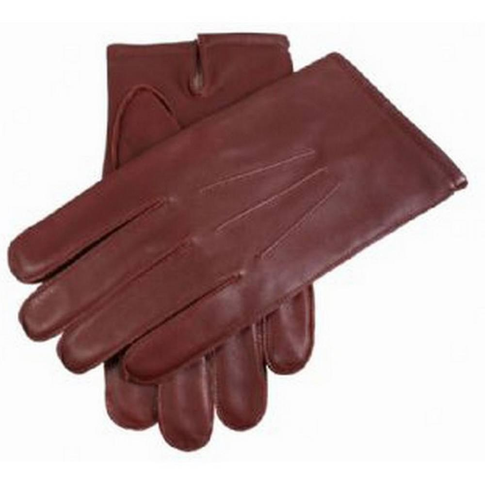 Dents Wool Lined Plain Leather Gloves - English Tan