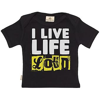 Spoilt Rotten I Love Life Loud Short Sleeve Baby T-Shirt