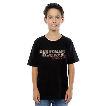 Marvel Boys Guardians of the Galaxy Retro Logo T-Shirt