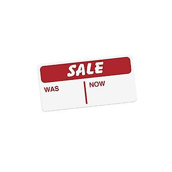 Self Adhesive Sticker - 'Sale Was Now' - Box of 500