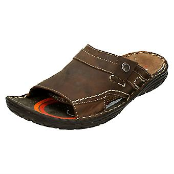 Mens Base London Slip On Peep Toe Sandals Latitude