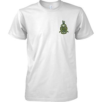 Royal Marines Commando Globe and Laurel - Green Effect - Mens Chest Design T-Shirt