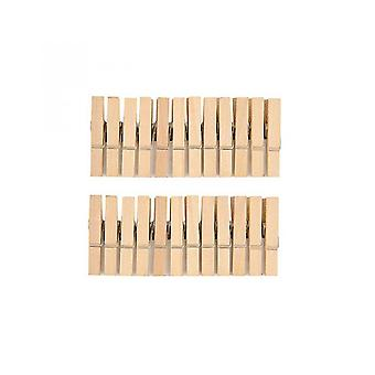 24 Natural Wooden Clothes Medium Pegs Perfect for Advent