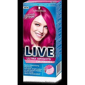 Schwarzkopf Schwarzkopf Live Ultra Brights Or Pastel- Shocking Pink 93 (pack Of 3)