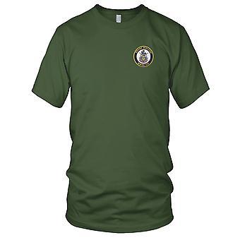 US Coast Guard USCG - WHEC-717 Mellon Hamilton Class High Endurance Cutter Embroidered Patch - Mens T Shirt