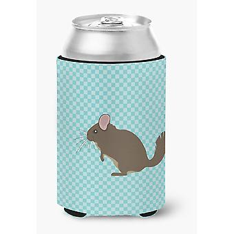 Carolines Treasures  BB8049CC Chinchilla Blue Check Can or Bottle Hugger