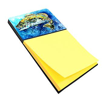 Carolines Treasures  MW1220SN Bobby the Best Bass Sticky Note Holder