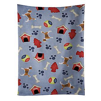 Carolines Schätze BB3910KTWL Beagle Hund Haus Sammlung Küchentuch
