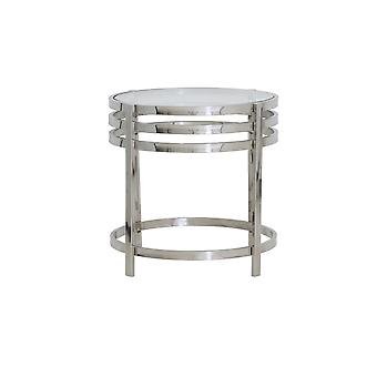 Light & Living Side Table Ø50x50 Cm ANGOL Glass+nickel