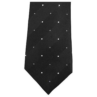 Knightsbridge Neckwear Double Pattern Tie - Black