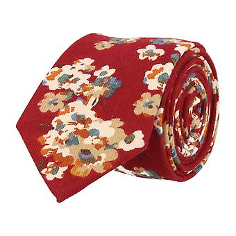 Mr. icone narrow tie floral Red