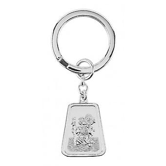 Orton West St Christopher Key Ring - Silver