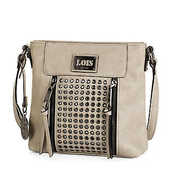 Adjustable shoulder bag women bag. Two pockets in front, one behind and one inside ZIP. Key ring and rivets. Faux fur leatherette 93144