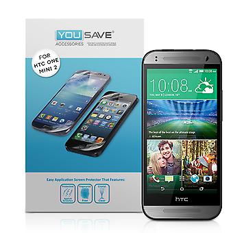 Yousave Accessories HTC One Mini 2 Screen Protectors X5