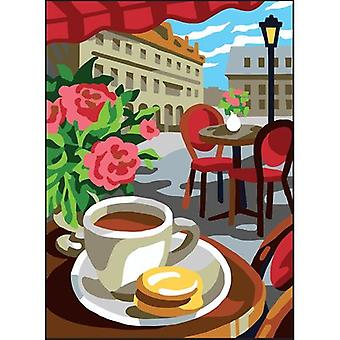 Collection D'Art Needlepoint Printed Tapestry Canvas 30X40cm-Cafe CD6321