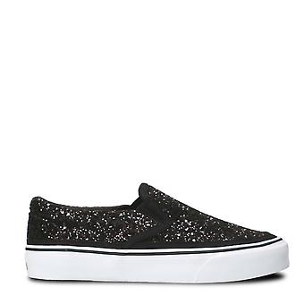 Sun 68 women's C272711 black polyurethane slip on sneakers