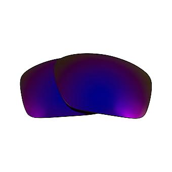 Replacement Lenses Compatible with OAKLEY Scalpel Polarized Purple Mirror