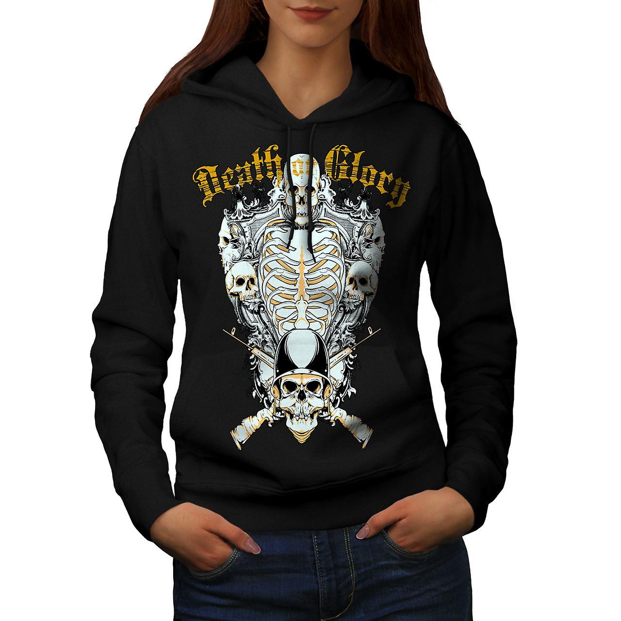 Glory Guns Dead Skull Women Black Hoodie | Wellcoda