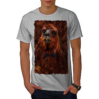 Llama Beast Wild Men GreyT-shirt | Wellcoda
