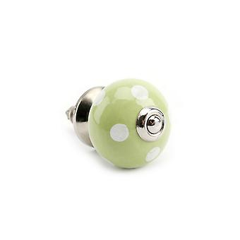 CGB Giftware Green/White Polka Drawer Handle