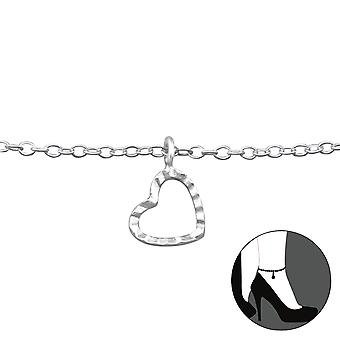 Heart - 925 Sterling Silver Anklets - W27646x