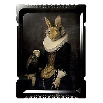 Zhao - Galerie De Portraits - Grand Format - Surreal Wall Tray Art Masterwork by iBride