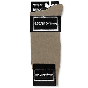 1 Pair of Biagio Solid Men's COTTON Dress SOCKS