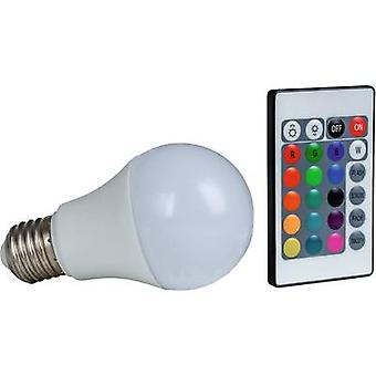LED E27 arbitraria 7.5 W = 50 W RGBW (Ø x L) 60 mm x 108 mm EEC: A + Heitronic cambiando de color, regulable 1 PC