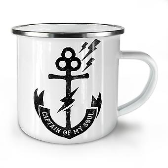 Captain Of Soul NEW WhiteTea Coffee Enamel Mug10 oz | Wellcoda