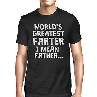 Farter père Mens noir pur coton Best fait T T-Shirt drôle blague