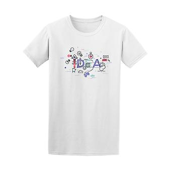Idea Icons Graphic Men's Tee - Image by Shutterstock