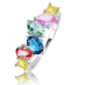 Shipton and Co Ladies Shipton And Co 9ct White Gold And Golden Sheen Sapphire Ring RWG086FS