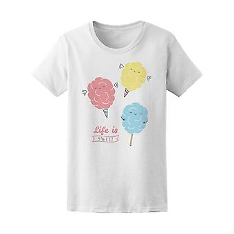 Cute Cotton Candy Life Is Sweet Tee Women's -Image by Shutterstock