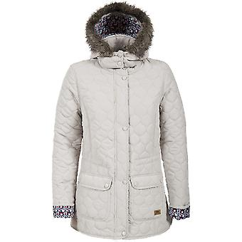 Trespass Womens/Ladies Jenna Quilted Faux Fur Trim Casual Jacket