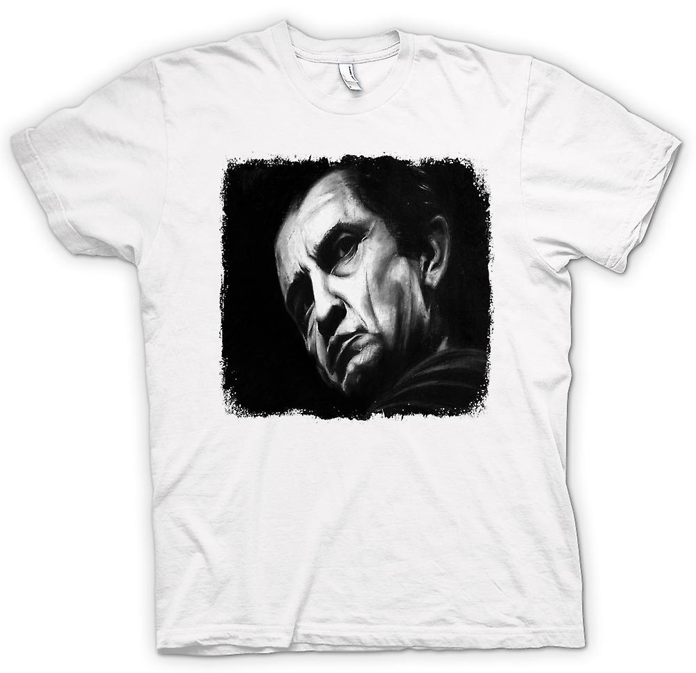 Heren T-shirt - Johnny Cash - Sketch - portret