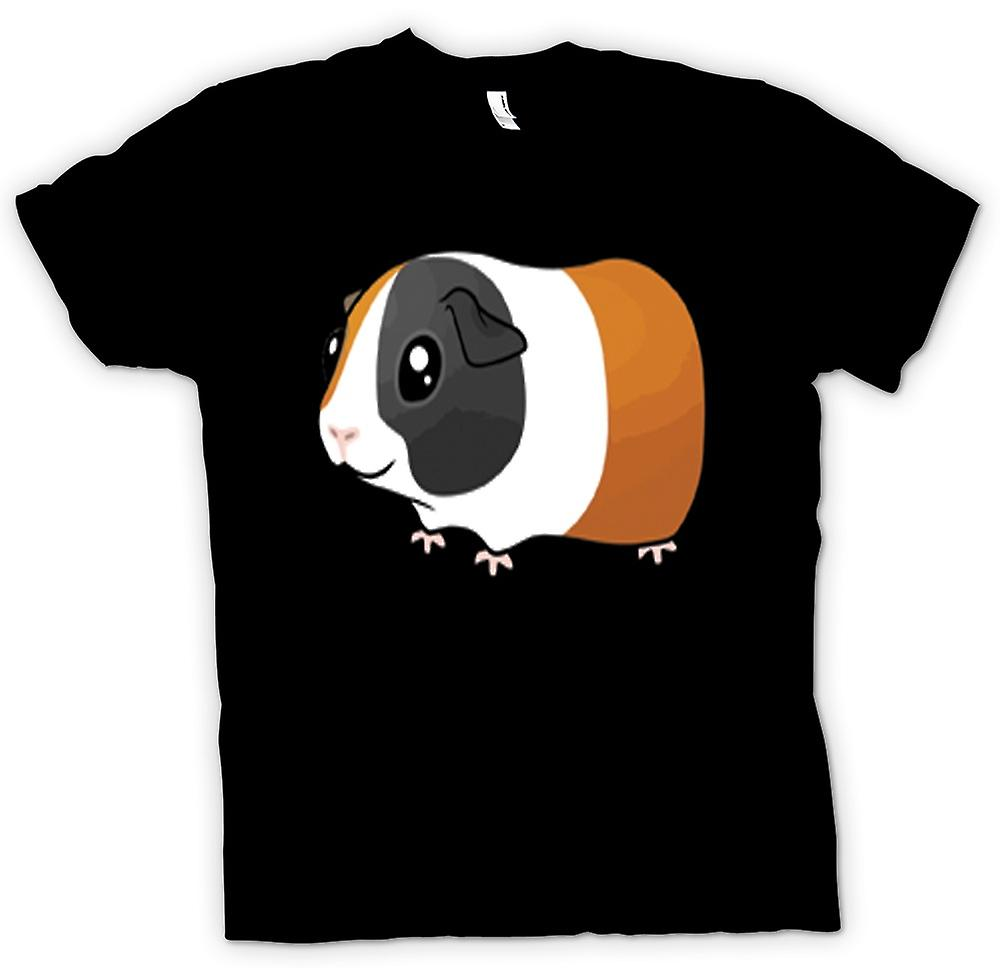 Womens T-Shirts-Cartoon-Meerschweinchen-Design