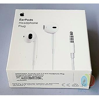 Original blister Apple MD827 EarPods Headset Headphone remote control, dust protection plug